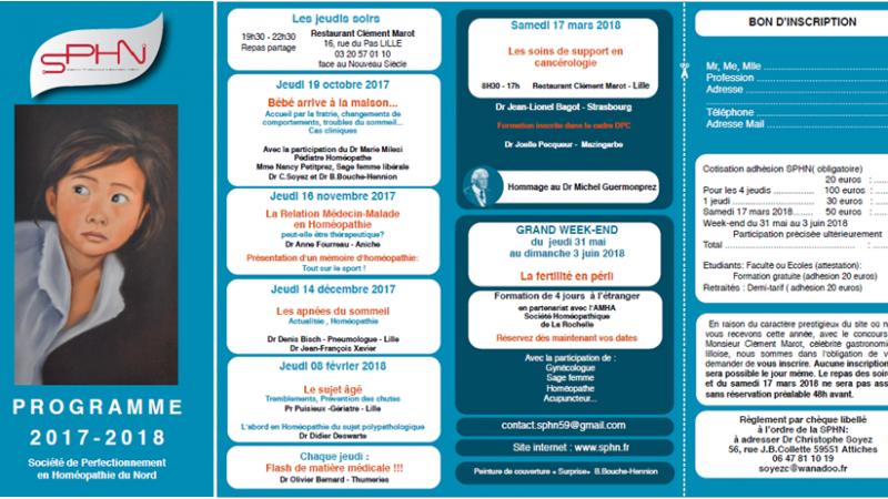 Programmes & Résumés des formations SPHN 2017-2018